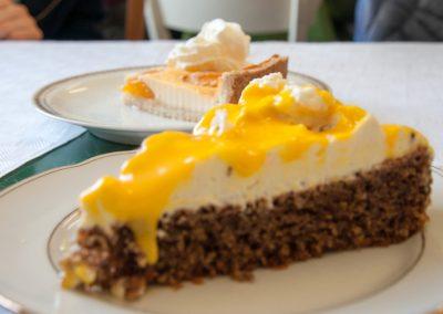 Der leckere Kuchen von Heidi im Art Cafe